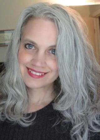 cheveux teint gris