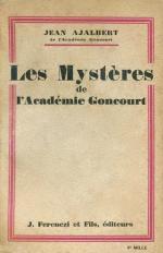 Ajalbert Mystères Goncourt couv