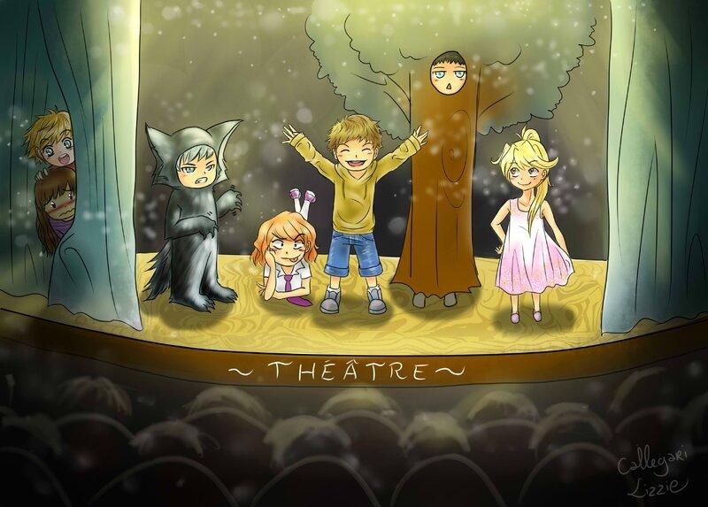 dessin théâtre de lizzie