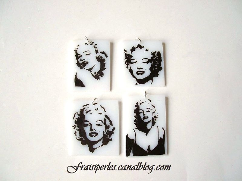 Marilyn Monroe pendentifs