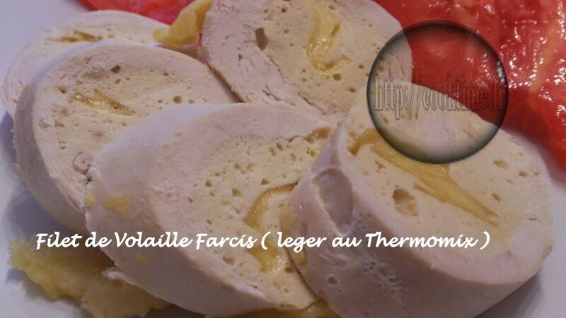 Filet de volaille farci leger Thermomix 1
