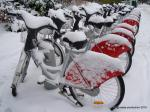 Vélo'v sous la neige (Lyon 5, janvier 2010)