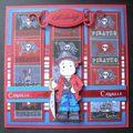 Carte d'anniversaire Léo 5 ans