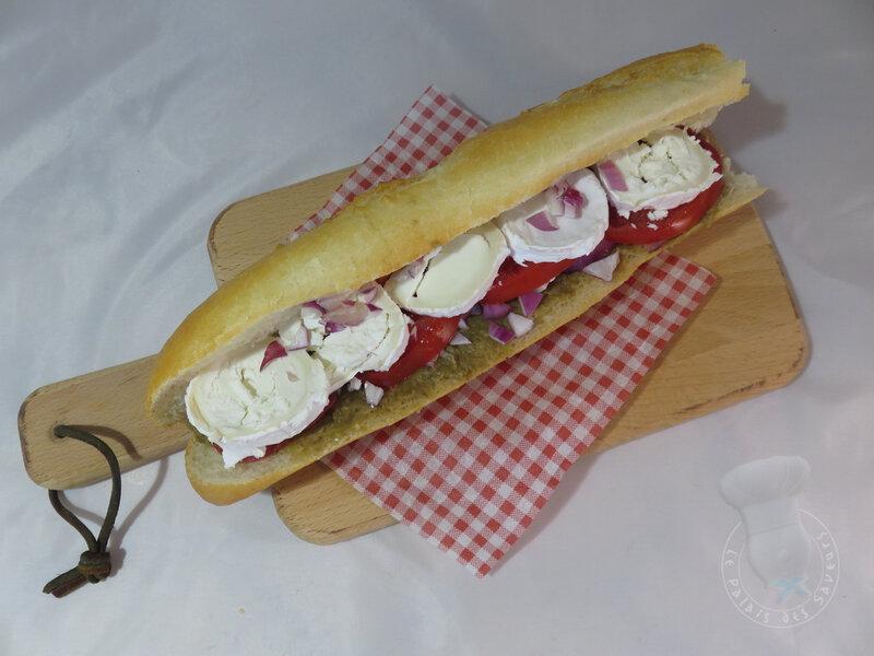 Sandwich caviar d'aubergines et chèvre