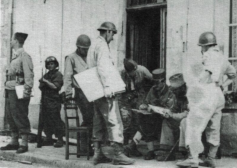 Groupe Etat Major 2ème DB Alençon 1944