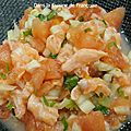Tartare saumon et fenouil