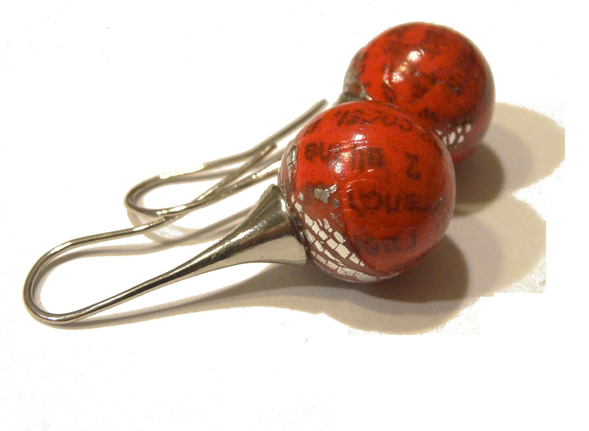 dormeuses boules dico rouges 2