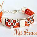 Nouveau kit bijou bracelet d'été orange