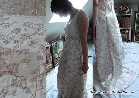 Journal d'atelier Amélie's Wedding dress1
