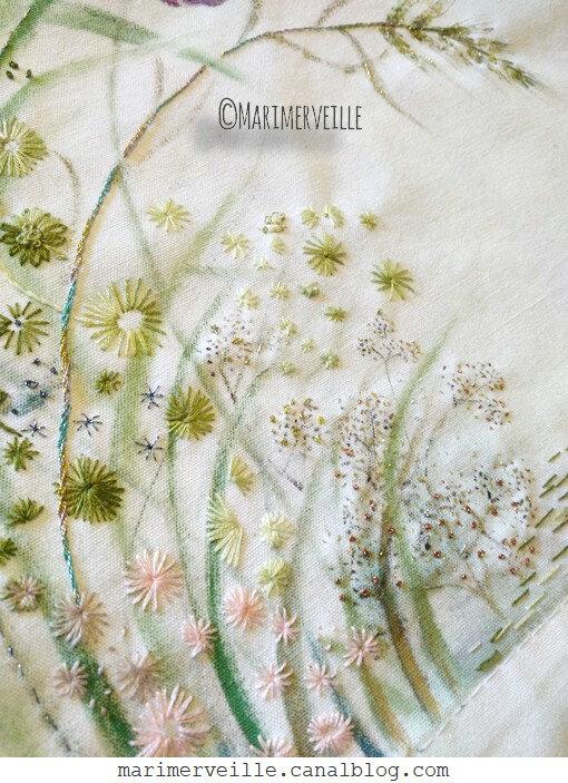 Broderie Marimerveille - en cours herbes folles 3