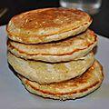 Pancakes aux flocons d'avoine et cannelle
