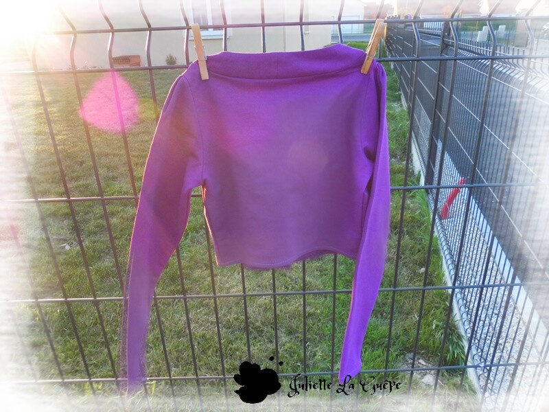 Aura et Nina sweat purple8