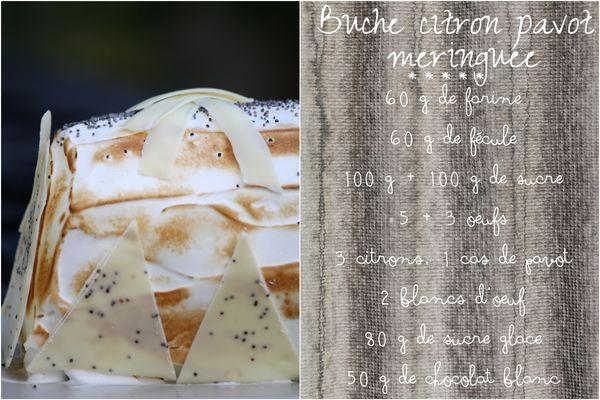 Buche citron pavot meringuée