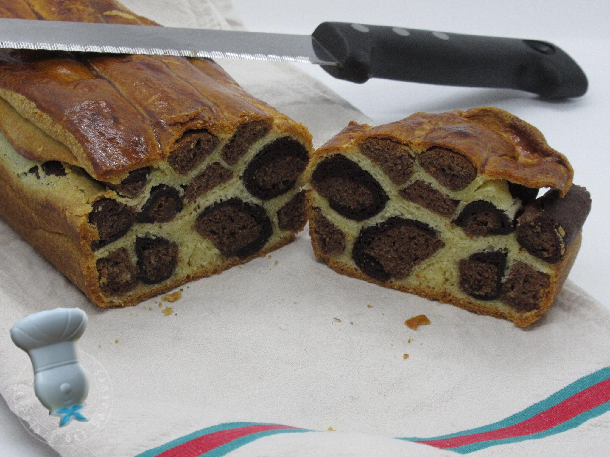 Cake brioché léopard