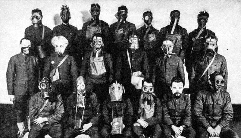 Masques a gaz front ouest