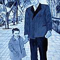 Promenade avec papi (huile sur toile) 100 x 65 cm