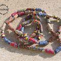 Sautoir fimo élastique ... et bracelets avec les vivi's !