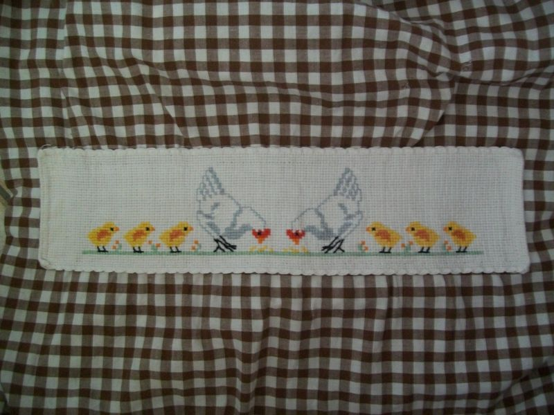 sac poules broderie