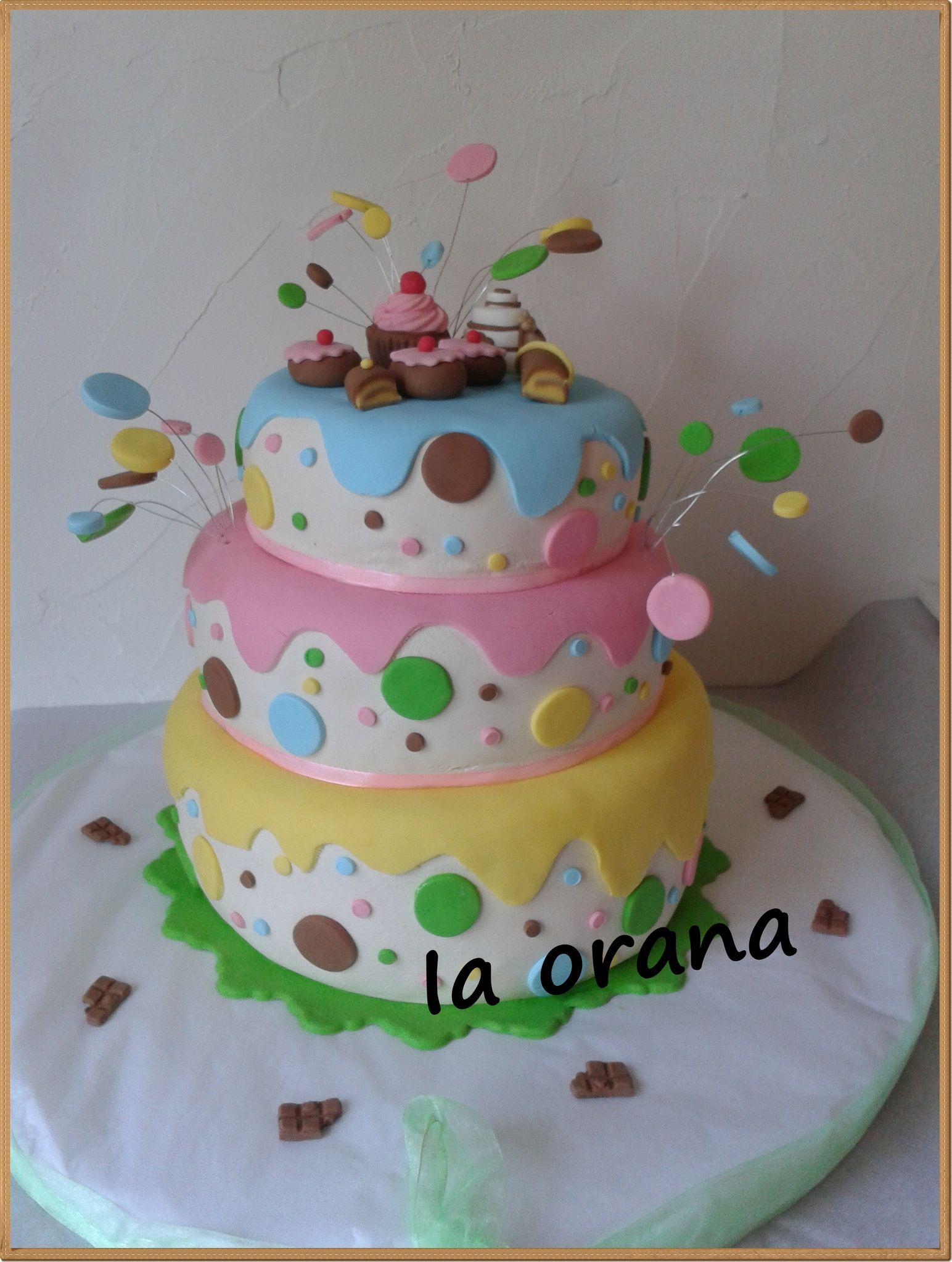 Gâteau gourmandises/Sweet cake