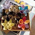 Je sui en plein boulimie de ces fleurs en origami