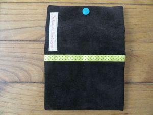 PM velours noir et coton turquoise (3)