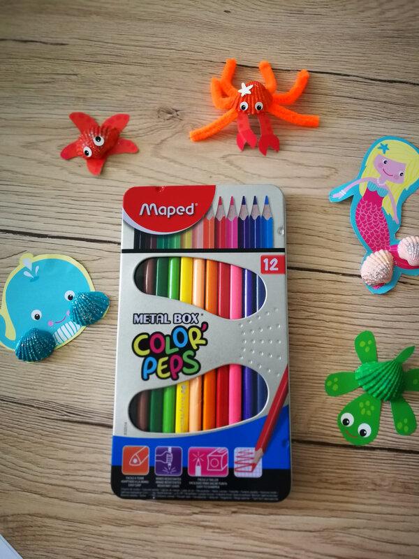 crayons de couleur color'peps #marentreemaped
