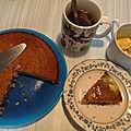 Gâteau banane / pomme / miel pour le tea-time