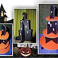 Un manoir porte-cupcake pour halloween