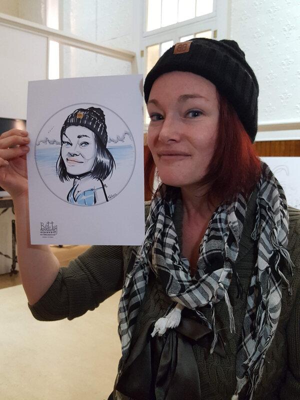 caricature de jeune femme jolie canada
