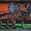 Seul street art vue en Transylvanie.
