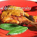 Canard, sauce à la rhubarbe