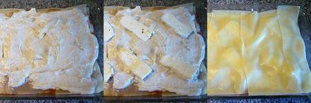 montage 4 lasagne à la ricotta