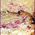 Cake aux groseilles et aux amandes