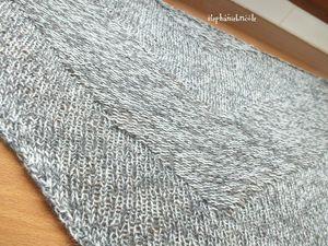 exemple de chale au tricot