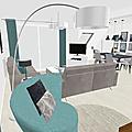 Projet client: un salon-séjour lumineux avec cuisine ouverte