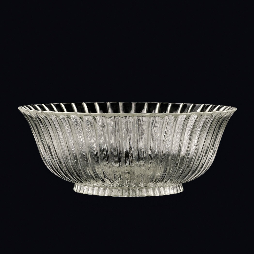 Chinese Glass Chrysanthemum Bowl, 19th Century
