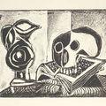 Pablo picasso (spanish, 1881-1973), pichet noir et la tête de mort (mourlot 35).
