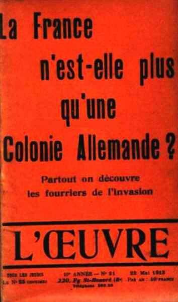 La France n'est plus qu'une colonie allemande
