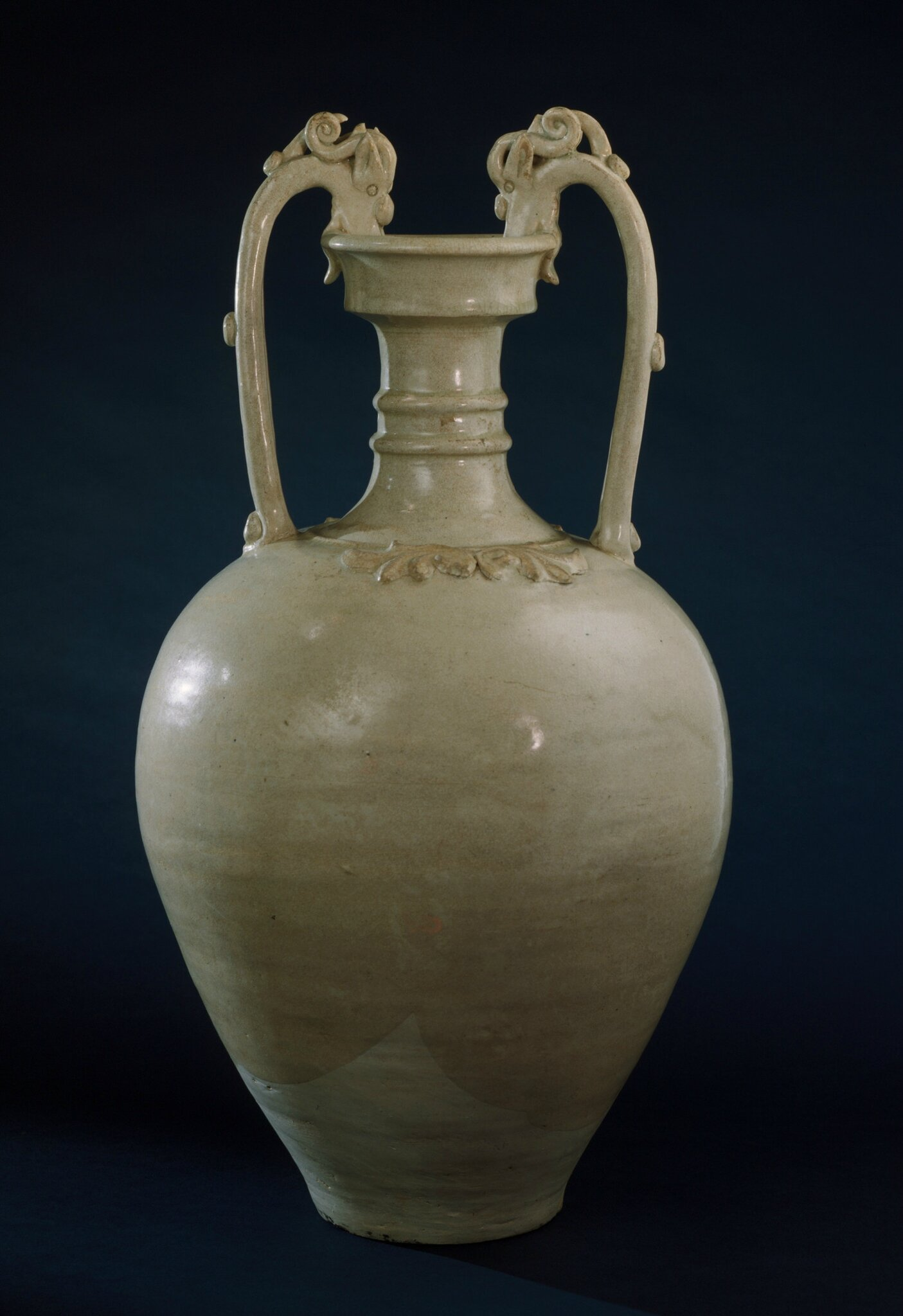 Amphora (Ping) with Dragon Handles, China, early Tang dynasty, about 618-700