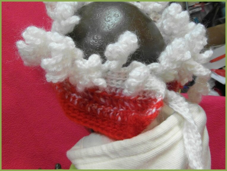 couronne crochet rouge blanc 5