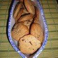 Cookies au beurre de cacahuete et éclats de chocolat