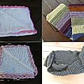 Voici des couvertures de bébé , une écharpe.