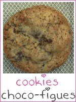 Cookies chocolat figues - index