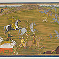 A group of princes out hawking, murshidabad, provincial mughal, north india, mid 18th century
