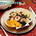 Langoustines au melon et coriande .