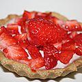 Première tartelette aux fraises