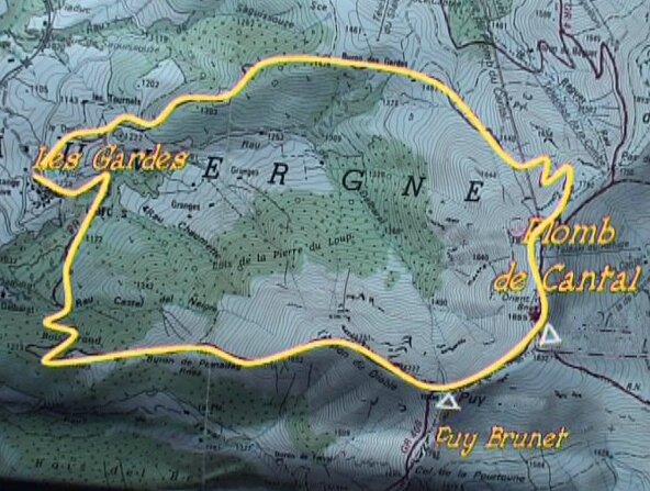 croquis plomb de Cantal