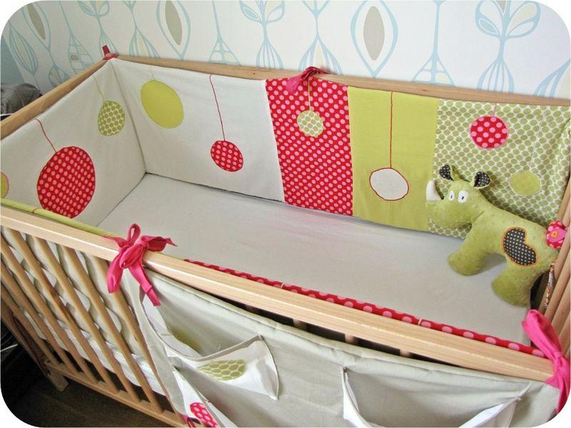 tour de lit bébé pour lit evolutif tour de lit   Photo de Trousseau de bébé   Le Tricomonde de Sophie tour de lit bébé pour lit evolutif
