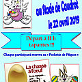 Chasse à l'oeuf CAUDROT 22 avril 2019