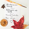 L'automne au travail / fall at work
